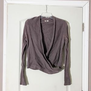 ANTHROPOLOGIE Moth Brown Front Wrap Sweater